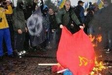 ukraineracistsburnsovietflag